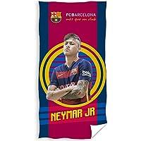Barcelona Neymar grande terciopelo toalla de playa, Unisex, Red / Blue, talla única
