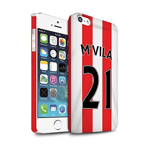 Offiziell Sunderland AFC Hülle / Matte Snap-On Case für Apple iPhone 5/5S / Yedlin Muster / SAFC Trikot Home 15/16 Kollektion M'Vila