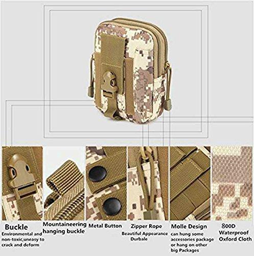Mcdobexy Wasserdichte Militär Taktische Molle EDC Telefon Tasche Taille Pack Utility Gadget Gürtel Taille Tasche mit extra Metall Karabiner ArmyGreen