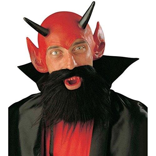 Teufelkostüm Set Teufel Maske Teufelkopf Kostüm Satan Faschingsmaske Devil Karnevalsmaske Halloween Kostümzubehör Halloweenmaske Outfit Verkleidung