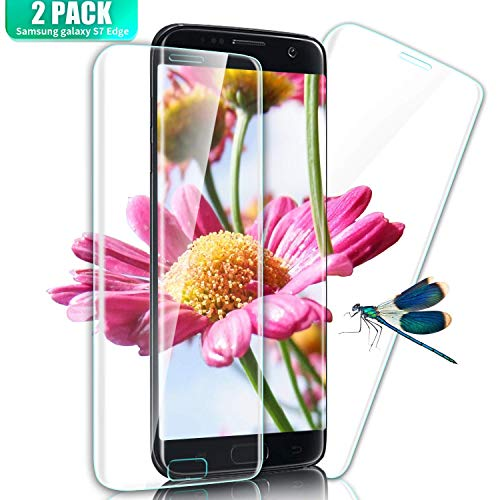 SGIN Galaxy S7 Edge Panzerglas Schutzfolie, [2 Stück] Vollständige Abdeckung Curved Premium Gehärtetem Glas HD Displayschutzfolie für Samsung Galaxy S7 Edge, Einfache Installation - Transparent