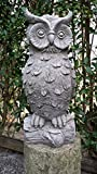Garden Ornaments by Onefold Gartenfigur, Skulptur, Eule, aus Stein, detailgetreu