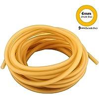 HONGCI Manguera de Goma, 5M Banda Elástica de Látex Natural para Hondas, Tirachinas, Caza, al Aire Libre y como Tubo Quirúrgico (6*9mm)