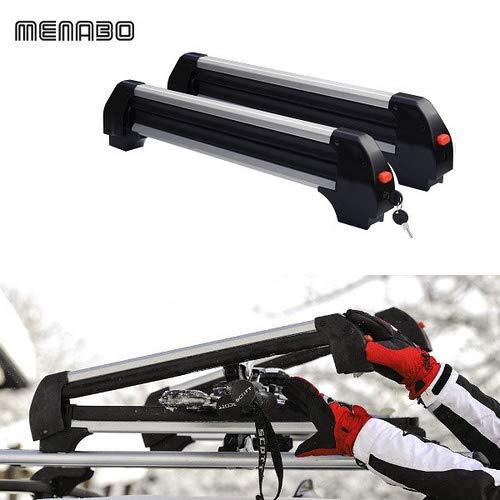 M791 Support pour Skis de Barre Universel Ford Porte Ski 6 Paires de Ski ou 4 Snowboard Voiture de Voyage portascii