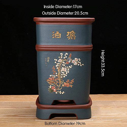 Nclon Revêtement céramique Pot de fleur ,Les orchidées Clivia Chlorophytum Pot de fleur Personnalité Plateau] Avec Jardin Outils-B