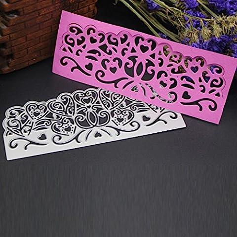 Stanzschablone Scrapbooking, SHOBDW Blume Herz Metall Schneiden stirbt Schablonen DIY Scrapbooking Album Papier Karte Handwerk (N)