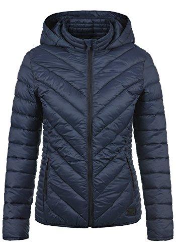 Blend She Sienna Damen Steppjacke Übergangsjacke Jacke mit Kapuze, Größe:XXL, Farbe:Navy (70230)
