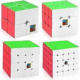 Mumoo Bear MF9301 Professional Speed Magic Cube Set of 2x2 3x3 4x4 5x5 With Gift Box Pack, 2724467408282