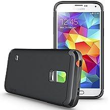 Samsung Galaxy S5 Mini Funda, TUDIA ultra delgado LITE TPU caso de parachoques de protección Funda Carcasas para Samsung Galaxy S5 Mini (Negro)