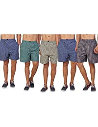 DIGITAL SHOPEE Men's Cotton Shorts Boxers, Pack of 5 (Medium, Multicolour)