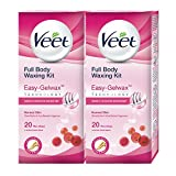 #3: Veet Full Body Waxing Kit for Normal Skin - 20 Strips (Pack of 2)