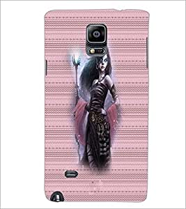 PrintDhaba Vamp D-4572 Back Case Cover for SAMSUNG GALAXY NOTE 2 (Multi-Coloured)