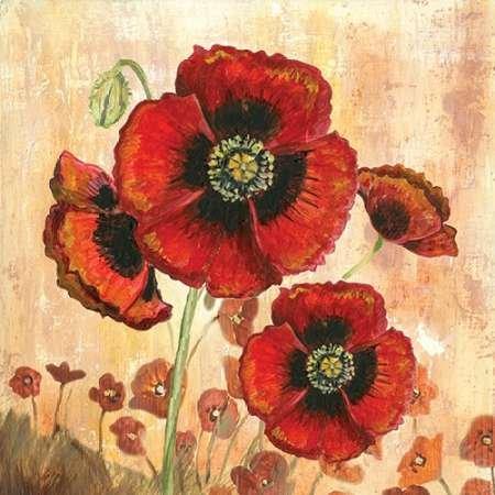 Big Red Poppies I Von Gorham, Gregory Kunstdruck auf Leinwand - Klein (29 x 29 cms )