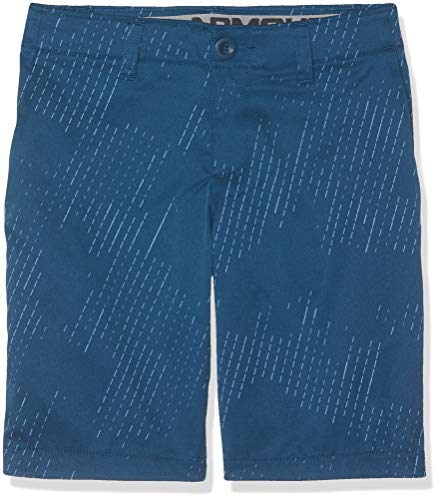 Under Armour Kinder Match Play Printed Kurze Hose, Blau, 12 - Golf Shorts Blau