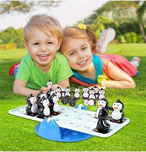 VPlus Tier Balance Pinguin Desktop Board Spiel Wippe Teeter Stil Intelligenz Geburtstagsgeschenk Unterhaltung präsentieren 1-4 Spieler -