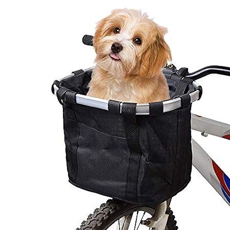 MOGOI Fahrradkorb für Hunde, Faltbare abnehmbare Haustier Katzen Hundefahrrad Tragetasche, wasserdichter vorderer…