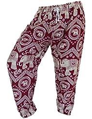 by soljo - Pantalon pantalons de loisirs sportifs pantalon Elephant bordeaux