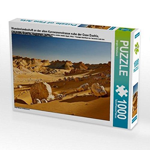 der alten Karawanenstrasse nahe der Oase Dachla, Libysche Wueste, Aegypten, Afrika 1000 Teile Puzzle quer (CALVENDO Natur) ()