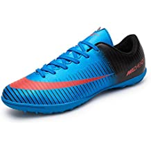 Asvert Zapatillas Fútbol Profesionales Hombre Botas de Rugby Adulto Zapatos de Fútbol Transpirable y Ligero