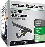 Rameder Komplettsatz, Anhängerkupplung abnehmbar + 13pol Elektrik für Suzuki Grand Vitara I (117381-04097-1)