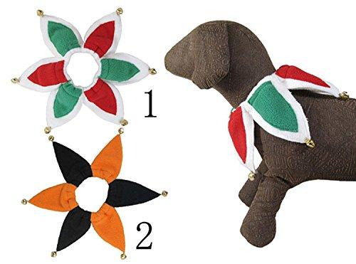 Hunde Hofnarr Kostüm - Pet Halsband Kostüm Jester Hund Katzen Halsband mit Glöckchen Set von 2