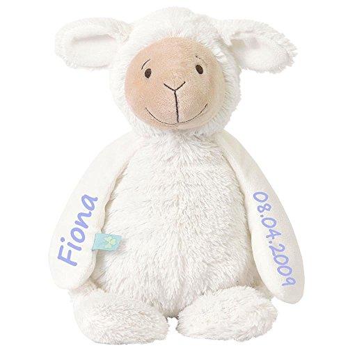 Stofftier Schaf mit Namen und Geburtsdatum personalisiert Geschenk verschiedene Ausführungen