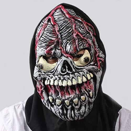 JNKDSGF HorrormaskeSPIELZEUG Realistische Scary Monster Skeleton Kostüm Latex Maske Alien Freddy Kluge Gollum Horror Schädel Zombie Masken Für Cosplay-Bild Farbe