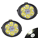 #3: AllExtreme Super Bright Oval 6 LED Fog Light Waterproof Mirror Mount LED Driving Headlight Off-Road Driving Spotlight For All Electric Bike Scooter Motorcycle (18W, Pack of 2)