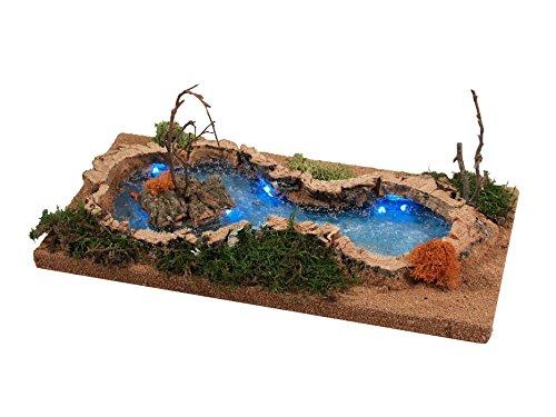 Bertoni luminoso stagno con cespugli, in legno, taglia unica