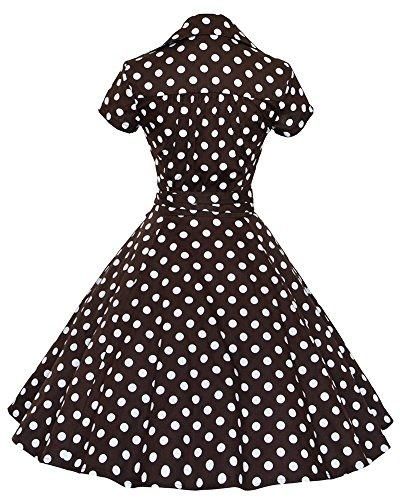 Donna Vintage 1950'S V Collare Corto Maniche Wiggle Vestito Nero Punto