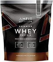 Amazon Brand - Amfit Nutrition Advanced 100% Whey Protein Powder - 1.98 kg (Chocolate, 64 Servings)