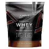 Marca Amazon - Amfit Nutrition Proteína Whey de suero de leche sabor chocolate, 64 porciones,  1980 g