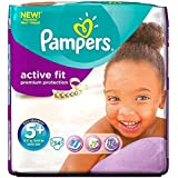 Pampers active Junior Plus 13-27kg 5 + Fit Taille (34) - Paquet de 6