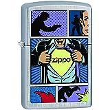 Zippo 60001990 Superhero Briquet Laiton Linen Weave 3,5 x 1 x 5,5 cm
