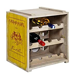 stapelbares ts ideen weinregal f r 12 flaschen im landhaus. Black Bedroom Furniture Sets. Home Design Ideas