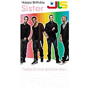 JLS - Sister Birthday Card