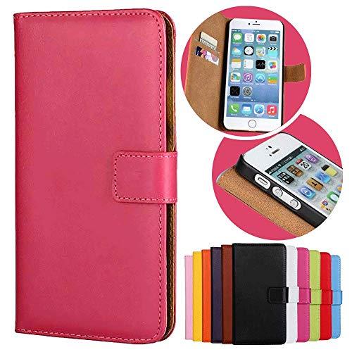 Roar Handy Hülle für Motorola Moto G (G1, 1.Generation), Handyhülle Pink, Tasche Handytasche Schutzhülle, Kartenfach und Magnet-Verschluss G1 Handy