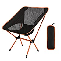Diswoe Camping Chair Lightweight Folding Chair with Carry Bag for Hiking,Fishing,Beach Heavy Duty 240 lb Capacity 8