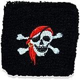 25 x HC-Handel 910616 Schweißband Pirat Piraten Armband schwarz