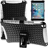 G-Shield Hülle für iPad Mini 4 Stoßfest Schutzhülle mit Ständer - Weiß