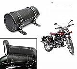 #2: Dios® Bike Leatherette Back Seat Saddle Bag BLACK- Royal Enfield / Avenger / Bullet