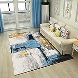 GOYOO Teppiche Weich Nicht Schuppen Einfach Anti-Rutsch Zottelig Wohnzimmer Schlafzimmer Teppich Leicht zu reinigen,80x160cm