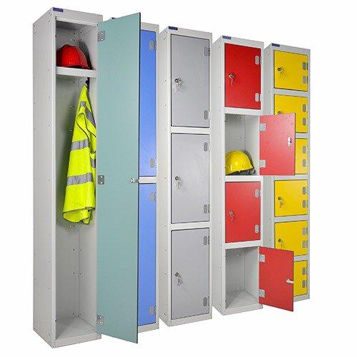 SHS Handhabung hg6279–300–3Laminat Tür Locker, 3Etagen, 1800mm Höhe, 300mm Breite, 300mm Länge (Cube Laminat)