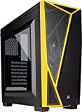 Corsair Carbide SPEC-04 - Caja de PC, Mid-Tower ATX, Ventana Lateral, Negro y Amarillo