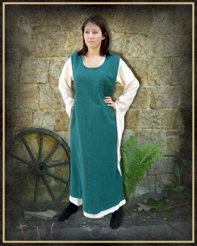 Leonardo Carbone Mittelalter Marktkleid - Damen Überkleid Minaela Schwarz