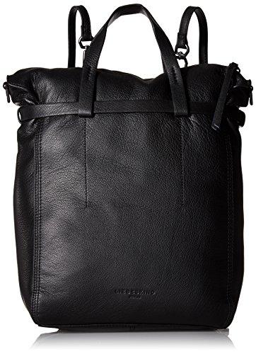 Liebeskind Berlin Damen Belfast Vinlux Rucksackhandtasche, 12x41x36 cm Schwarz (OIL Black)