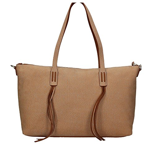 Borbonese 924793648 Shopping Bag Donna Cuoio -saglassrepair.com 715a9acc885
