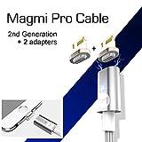 DigitalOME® Magmi Pro Kabel mit magnetischer Anziehungspunkt für Lightning +2X pin Apple Ladegerät iPhone 6S 6 Plus 5S 5
