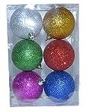 2 Packungen (=12 Stück) Weihnachtskugeln groß in verschiedenen Farben