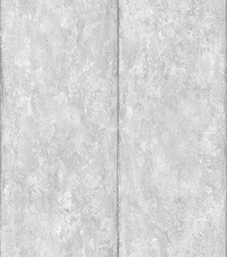 danslemur 2053-1-Carta da parati TNT, effetto Cemento e righe, colore: grigio